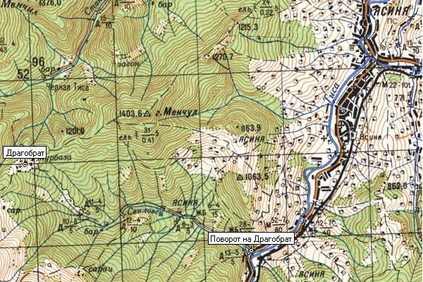 Карта проезда на Драгобрат
